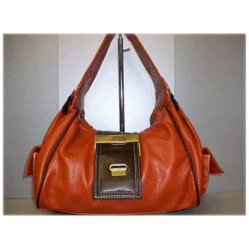 Belt Effect Bag in Orange