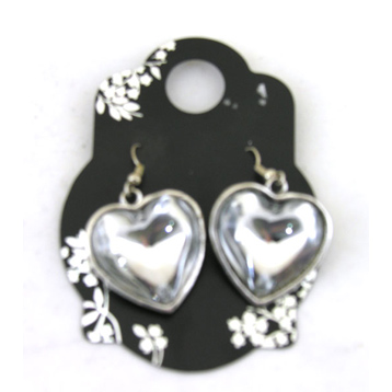 Heart Shaped Drop Earring