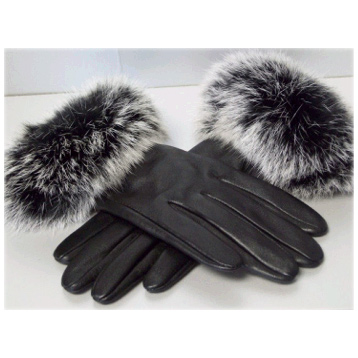 Leather Gloves with Trim