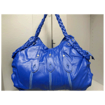 Zip Effect Bag in Blue